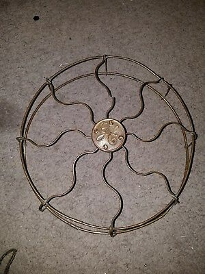 Antique Vintage GE Electric Fan Brass Cage BMY needs repair