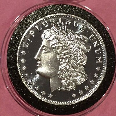 Morgan Dollar Round Collectible 1 Troy Oz .999 Fine Silver Round Bullion Medal