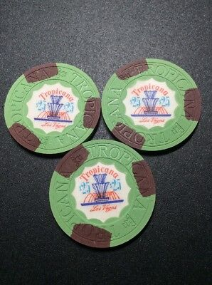 Classic Tropicana $25 Casino Chips- Waterfall Issue- Never Played!