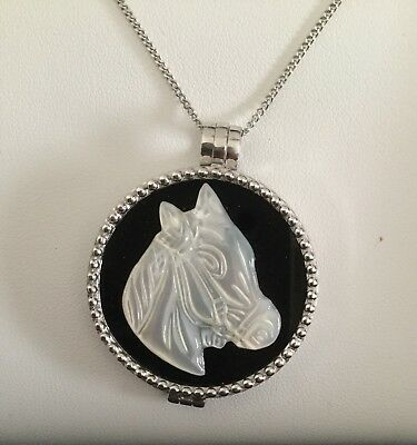 BRAND NEW: MY iMenso ONYX MOTHER OF PEARL 24MM Horse Pendant