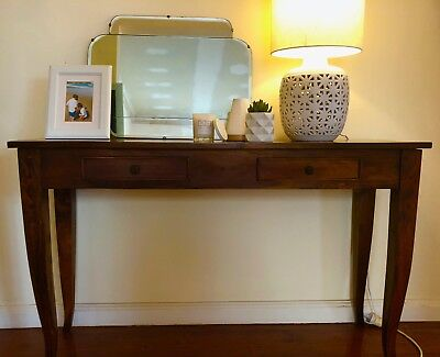Vintage Antique Display Console Hall Table