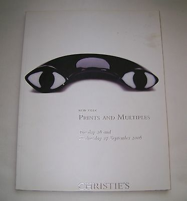 Back Issue CHRISTIE'S New York PRINTS AND MULTIPLES Catalog 26&27 September 2006