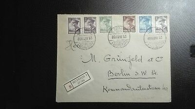 Romania registered air mail cover 1932