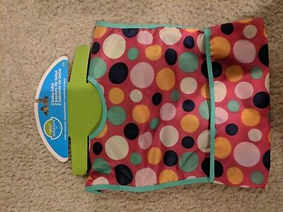 Neat Solutions Water Resistant Toddler Bib Color Polka Dots