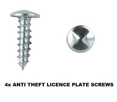 Anti-Theft Licence Rego Number Plate Screws - One Way Screws (4 Pack)