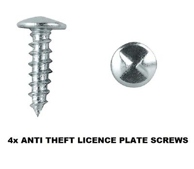 Zinc Plated Anti-Theft Licence Rego Number Plate Screws - One Way Screws
