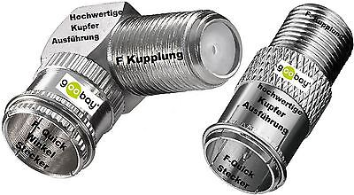 goobay Connector F-Quick Plug to F-plug F Quick Adapter Clutch Angle