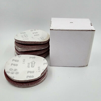 100 Pcs 6″ 40-2000 Grit Hook Loop Pads Sanding Disc Sandpaper Sheet Sander