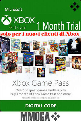 [Trial] Xbox Game Pass Abbonamento 1 Mese - Microsoft Xbox One Xbox 360 - IT