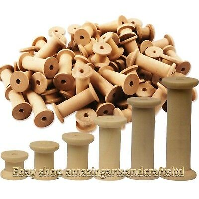 SEWING REELS Threading-Yarn-Wire-Crafts SMALL STANDARD WOODEN BOBBINS SPOOLS