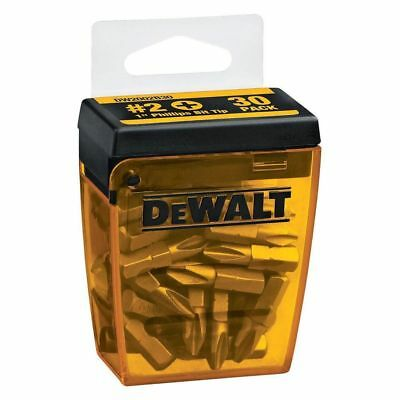 30-Pack DEWALT No.2 Philips 1 In. Durable Screwdriver Bit Tips Snub-Nose Design