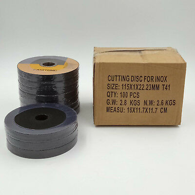 "100 Pack - 4-1/2"" Cut-off Wheels for All Ferrous Metals & Stainless Steel"