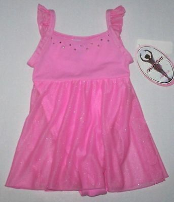 Nwt New Moret Leotard Leo Dress Skirt Skirtall Flutter Sleeve Babydoll Cute Girl