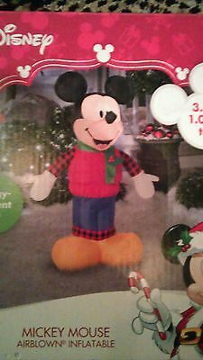 Mickey Mouse airblown inflatable  LED lights up 3.5 feet tall Disney