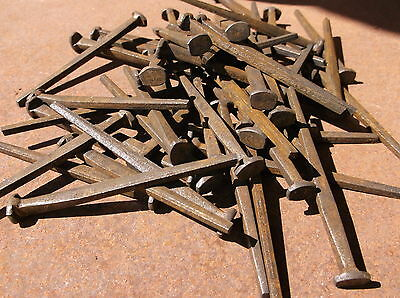 """Antiqued Finish Tremont Cut Nails 3"""" Fire Door Clinch Nails One Pound"""