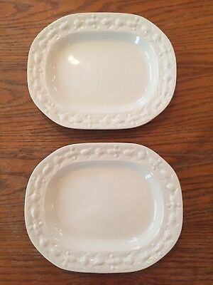 Set of 2 Adams Micratex Serving Platters Real English Ironstone