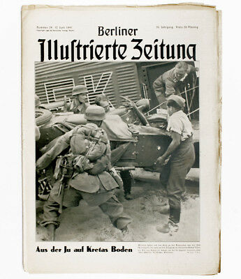 1941 German paratroopers load motorcycle in military transport plane Creete WWII