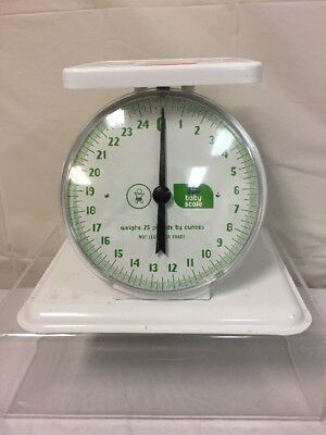 VINTAGE Sears Baby Scale - Weighs to 25 Pounds By Ounce - Cool Retro Infant room