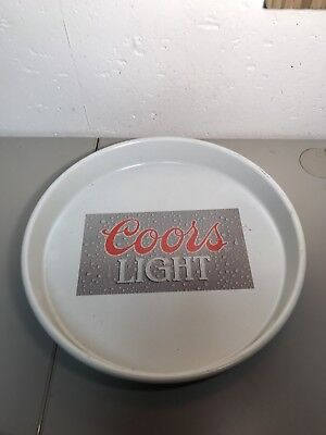 "COORS LIGHT Vintage - 13"" TIN BEER TRAY nice rare"