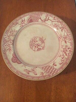 Antique Chinoserie Arts & Crafts Dinner Plates, Set 6, Keeling&Co Victoria