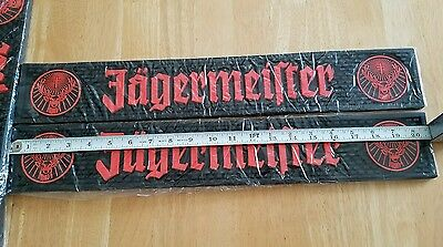 "(1) Brand New-Jagermeister Deer Logos -Bar Mat Rail ●(3.5"" × 20"" Dimensions)●"