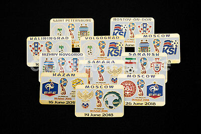 Metal Badge Pin World Cup 2018 Russia WC18 Match Pins Football