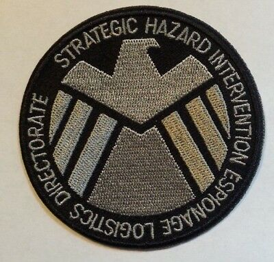 """S.H.I.E.L.D. Shield Patch~3"""" Round~Embroidered Applique~Marvel~Iron or Sew on"""