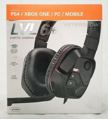 LOT OF 2 PDP Afterglow LVL 6+ Over-Ear Gaming Headset for Multi-Platform - Black
