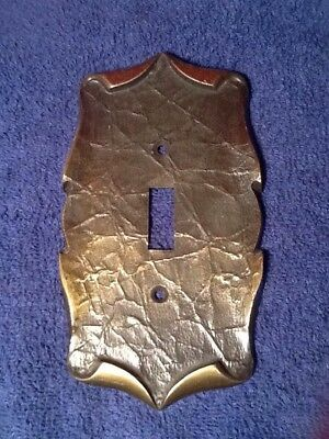 Vintage 60's Amerock Carriage House Antique Brass Single Switchplate Cover