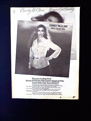 """Charly McClain """"Who's Cheatin' Who""""...1980 Original Promo Poster  Ad"""