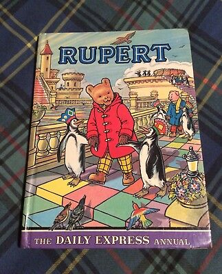 Vintage 1977 Rupert Bear Daily Express Annual, Price Clipped, Named