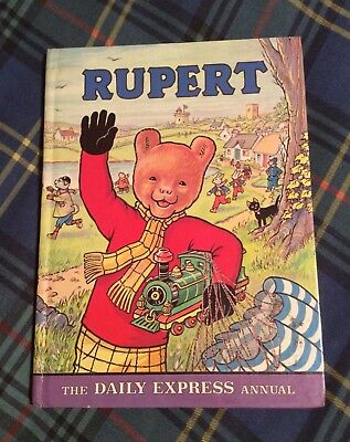 1976 Rupert Bear Daily Express Annual, Not Price Clipped, Neatly Named