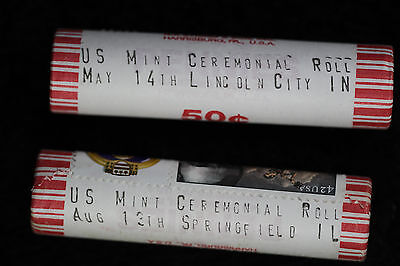 Two Rolls of 2009-P Lincoln Cents- Formative/Professional - Ceremonial Rolls