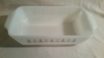 Vintage Anchor Hocking Fire King Candle Glow 1 qt casserole baking dish 441
