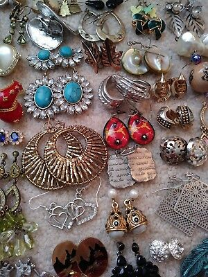 Huge Earring lot - 60 Pairs - Vintage/Modern - All Wearable - Estate Finds