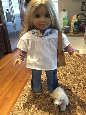 American Girl Doll Julie With Her Accessories