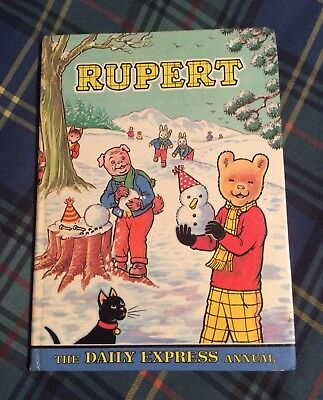 1974 Rupert Bear Daily Express Annual, Price Clipped, Not Named, VGC