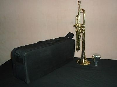 Trumpet Sale Mouthpiec Brass Finish Professional Bb Pitch W/mp/case Mouthpice