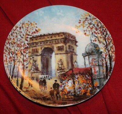 Louis Dali  L'arc De Triomphe Limoges Limited Edition In178 Collectible Plate