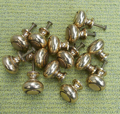 Vintage Solid Brass Pulls Knobs Door Drawer (lot of 14)