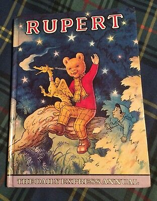 1979 Vintage Rupert Bear Daily Express Annual, Not Price Clipped, Neatly Named