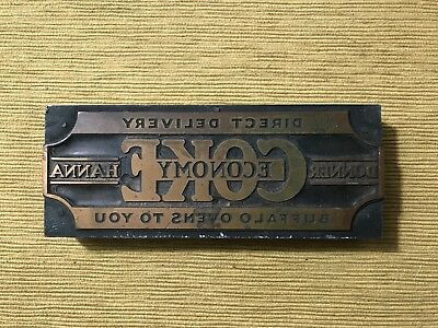 Donner Hanna Coke Company Brass And Wood Stamp?