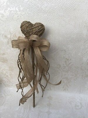 Flower Girl/Child  Wand Hessian,  Rustic, Vintage Wedding Flowers