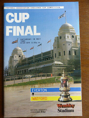 FA Cup Final Programme - Everton v Watford - 19th May 1984