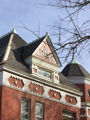 VICTORIAN ARCHITECTURAL ROOF ORNAMENTAL RIDGE CAPS from HISTORIC MANSION 1887