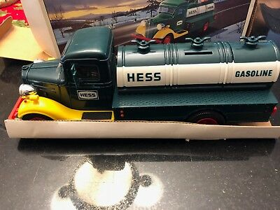 First Hess Truck Toy Bank Hess Gasoline Truck With Working Lights and Piggy Bank