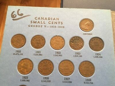 Canada Small Cent Collection Complete Set 1920-1964 Whitman album