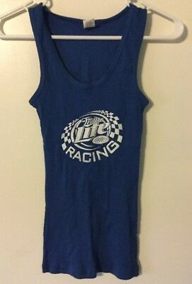 97e2a577fbe60c MILLER LITE TANK Top - Beer Logo Embroidered Patch Pub Lounge Muscle ...