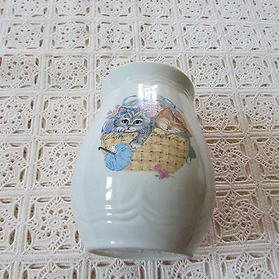 "Bottom only Tienshan ""Purrfect Friends"" Collection Stoneware small canister"