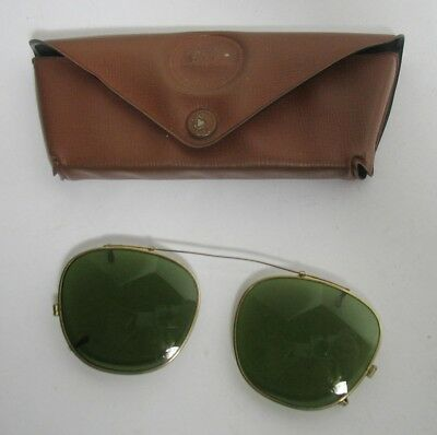 Vintage Bausch & Lomb RAY BAN Clip on Sunglasses in Case no Scratches